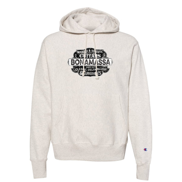 Blues & Curiosities Champion Hooded Pullover (Unisex) - Oatmeal