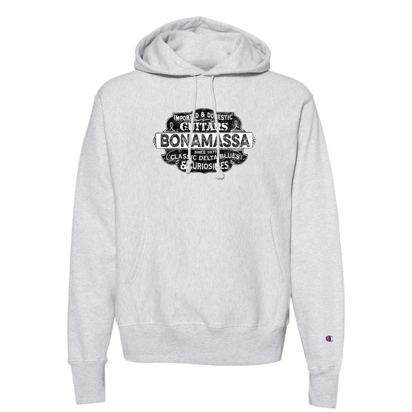 Blues & Curiosities Champion Hooded Pullover (Unisex) - Silver