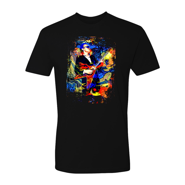 Vivid Blues T-Shirt (Unisex) - Black