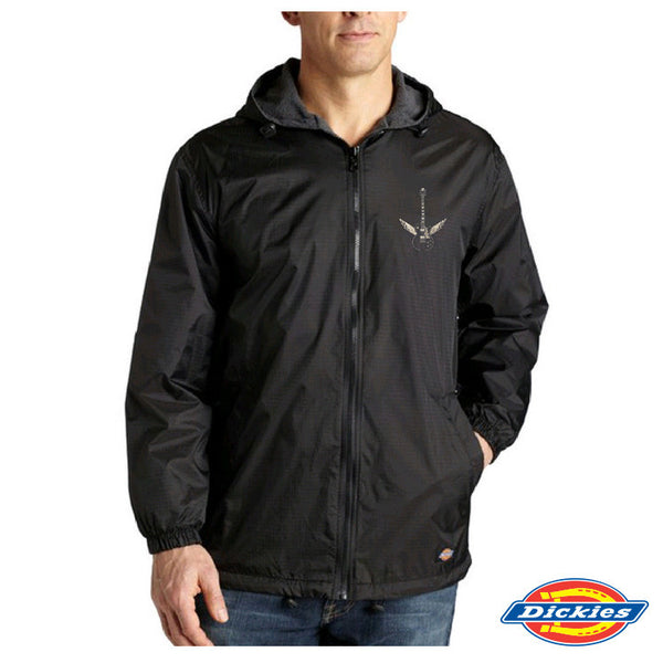 Rock A Gray Hat And Leather Jacket For Fall: Blues-Rock Lives On Dickies Fleece-Lined Hooded Nylon