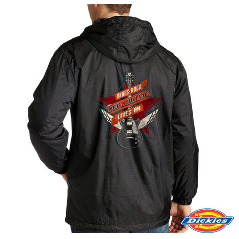 Blues-Rock Lives On Dickies Fleece-Lined Hooded Nylon Jacket (Men)