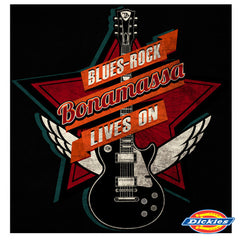 Blues Rock Lives On Dickies Long Sleeve Work Shirt (Men)