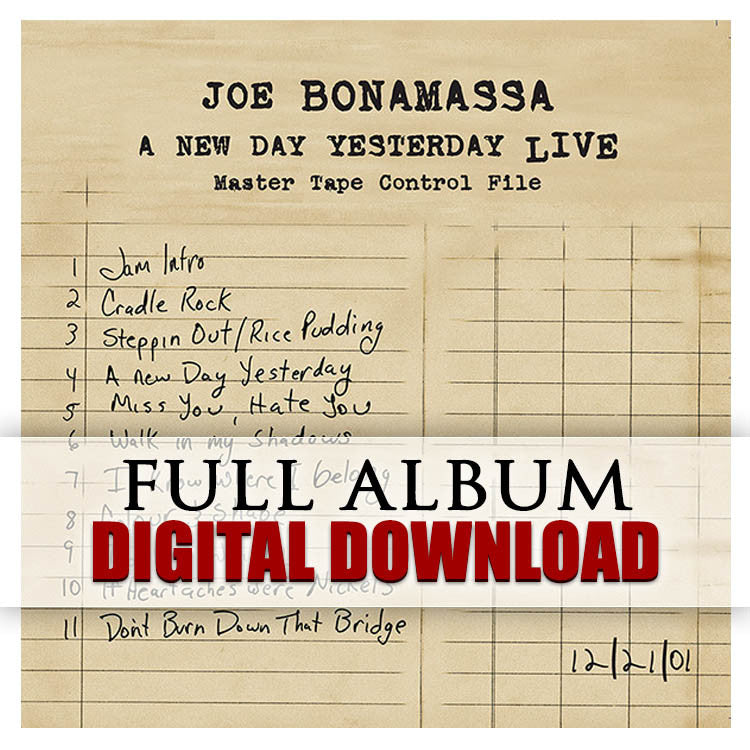 A New Day Yesterday Live -  Digital Album (Released: 2005)
