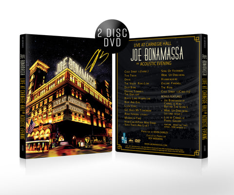 Joe Bonamassa: Live at Carnegie Hall - An Acoustic Evening (DVD) (Released: 2017) - Hand-Signed