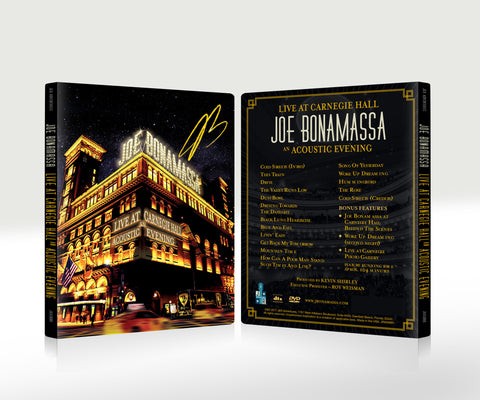 Joe Bonamassa: Live at Carnegie Hall - An Acoustic Evening (DVD) (Released: 2017) - Hand-Signed ***PRE-ORDER***