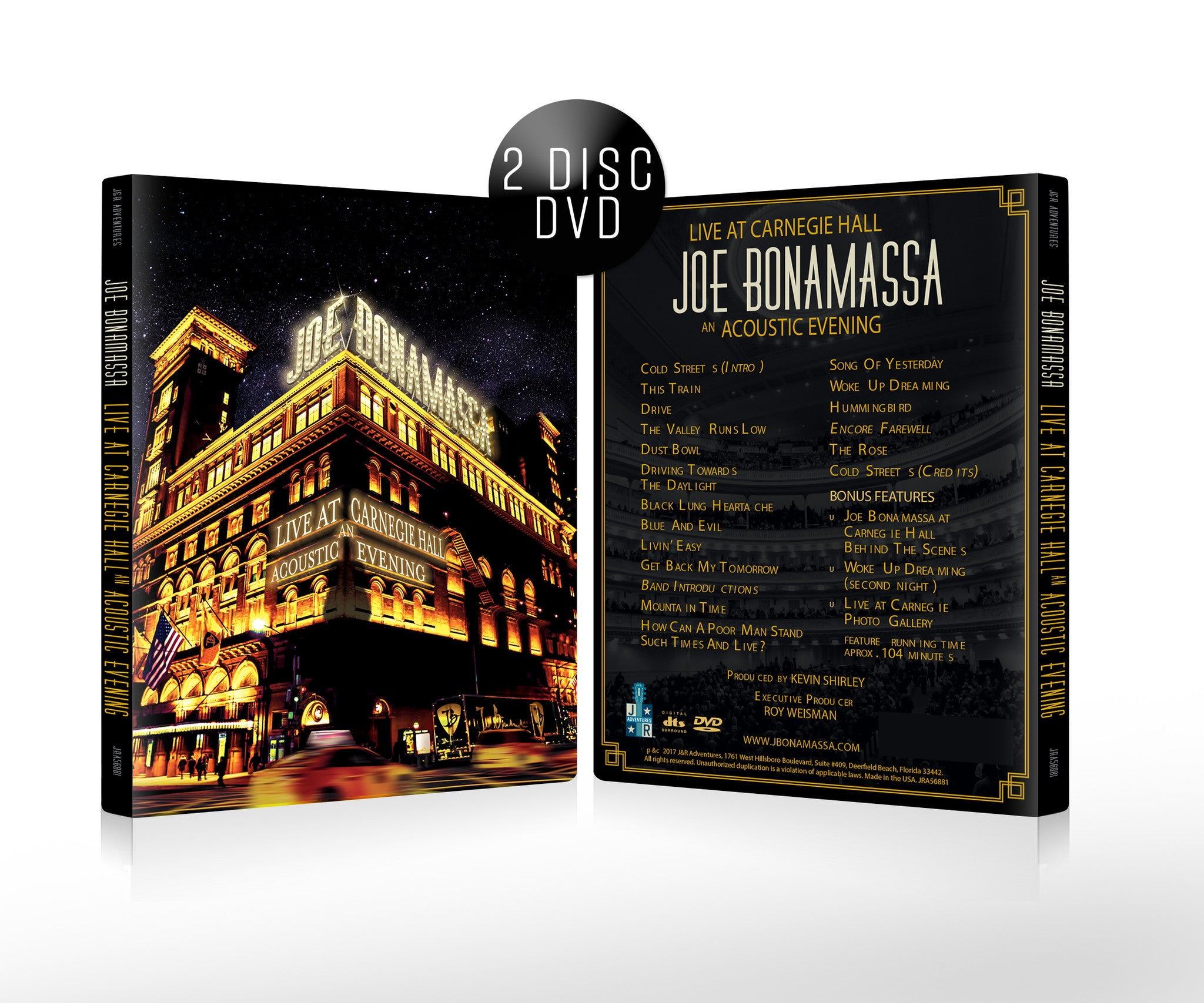 Joe Bonamassa: Live at Carnegie Hall - An Acoustic Evening (DVD) (Released: 2017)