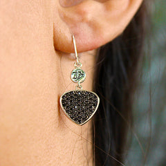 Bona-Fide Black Guitar Pick Earrings