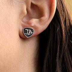 Bona-Fide Black Guitar Pick Studs