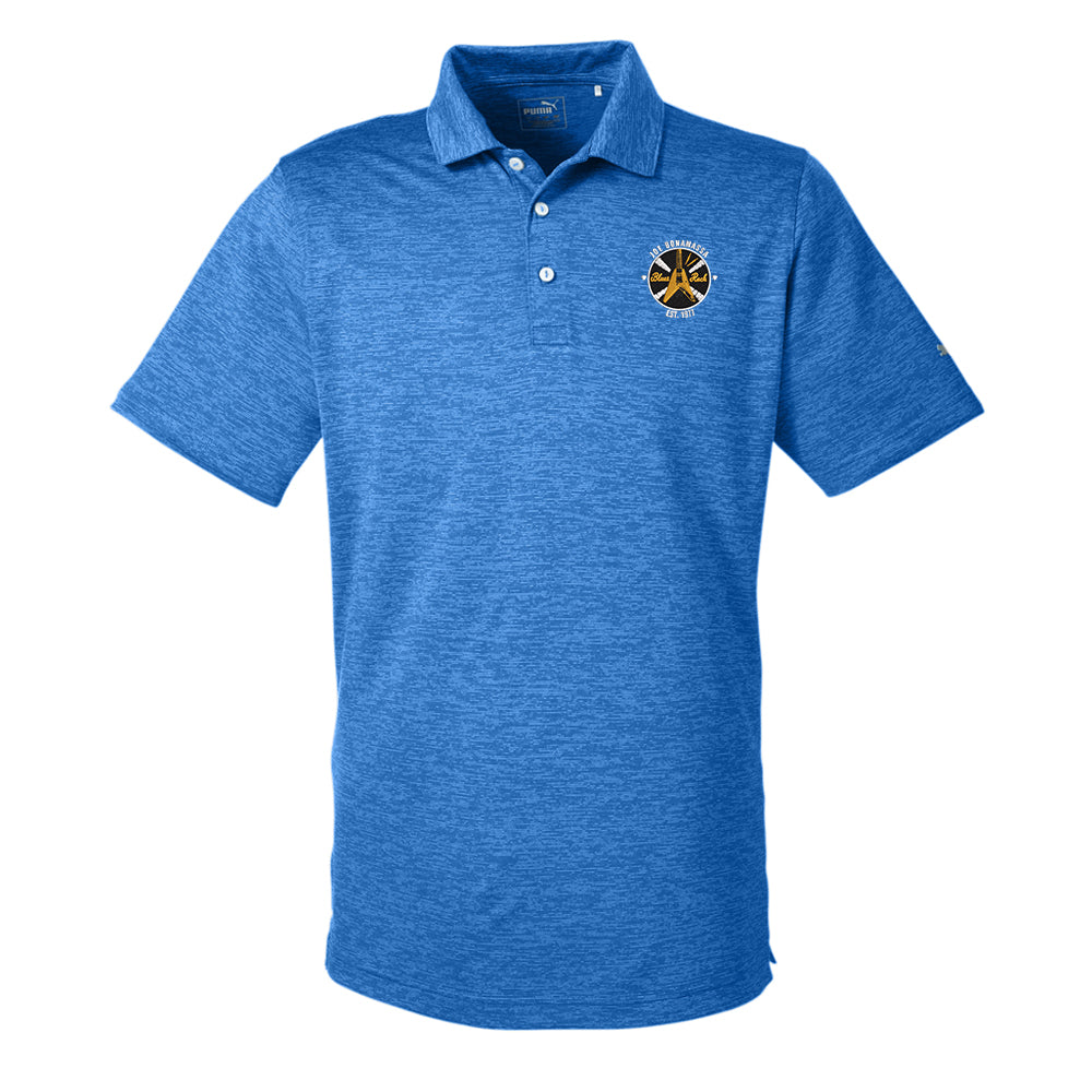 Electric Flying V Puma Golf Icon Heather Polo (Men) - Lapis