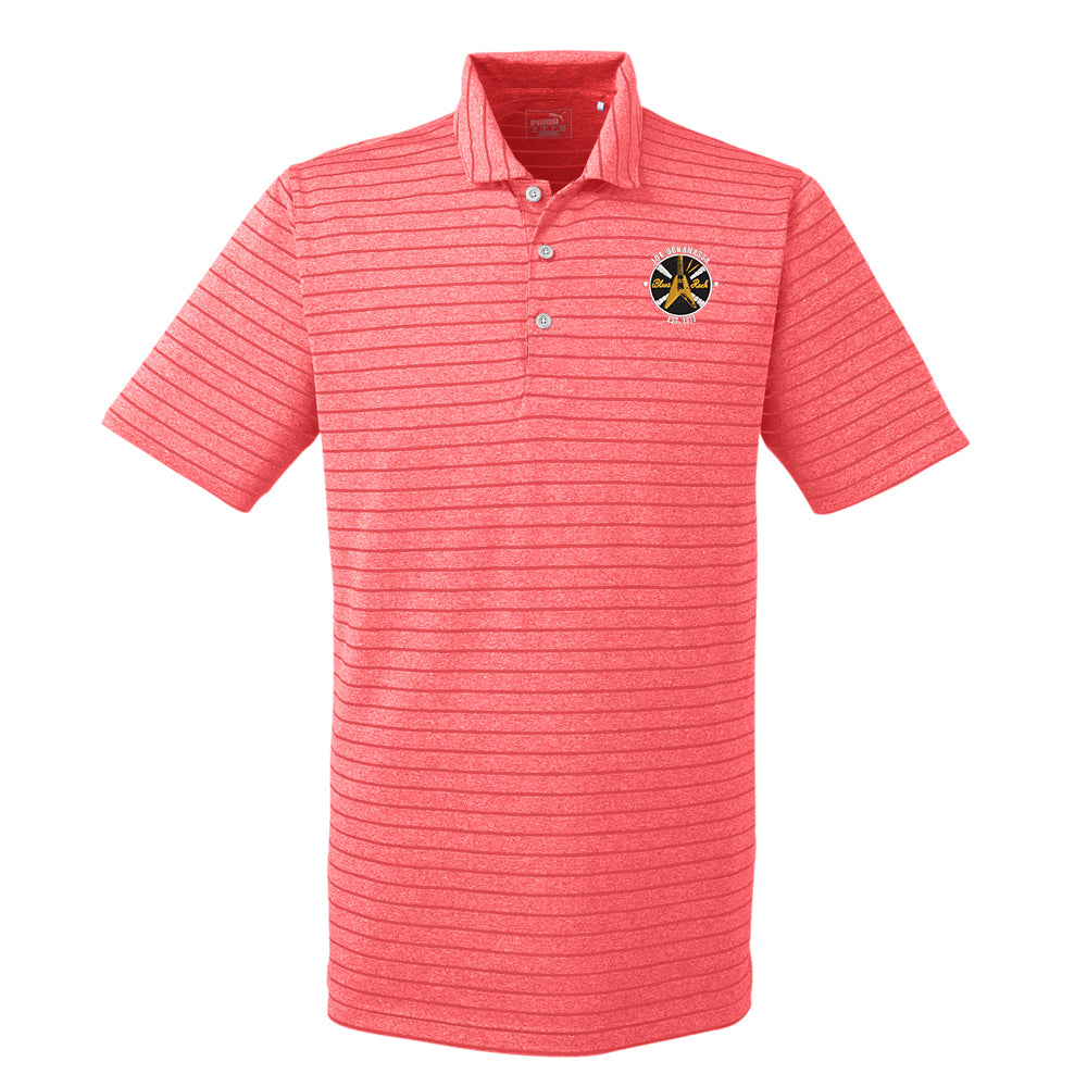 Electric Flying V Puma Golf Rotation Stripe Polo  (Men) - Red