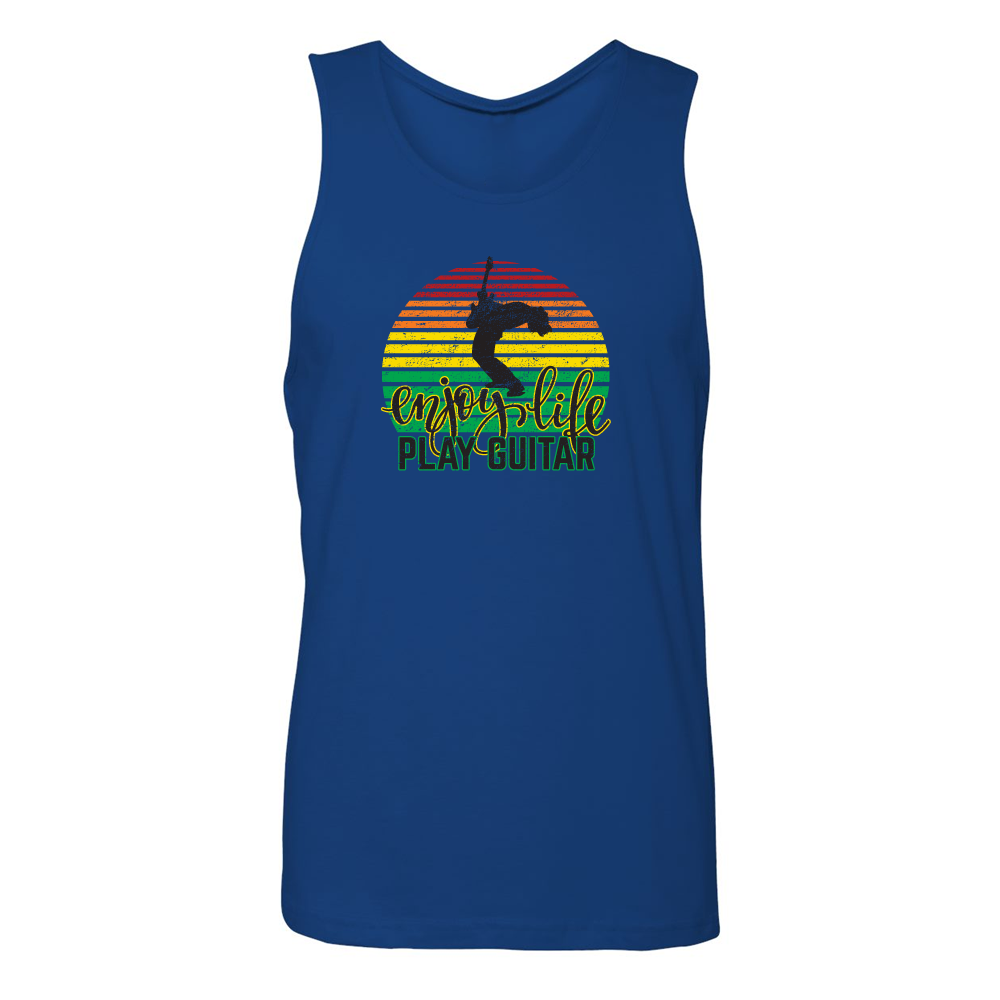 Enjoy Life, Play Guitar Tank (Unisex) - Royal