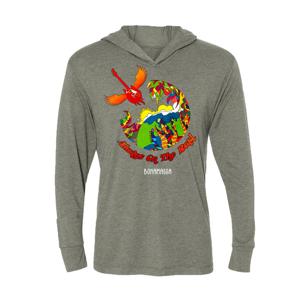 Blues Universe Long Sleeve & Hoodie (Unisex) - Premium Heather Grey