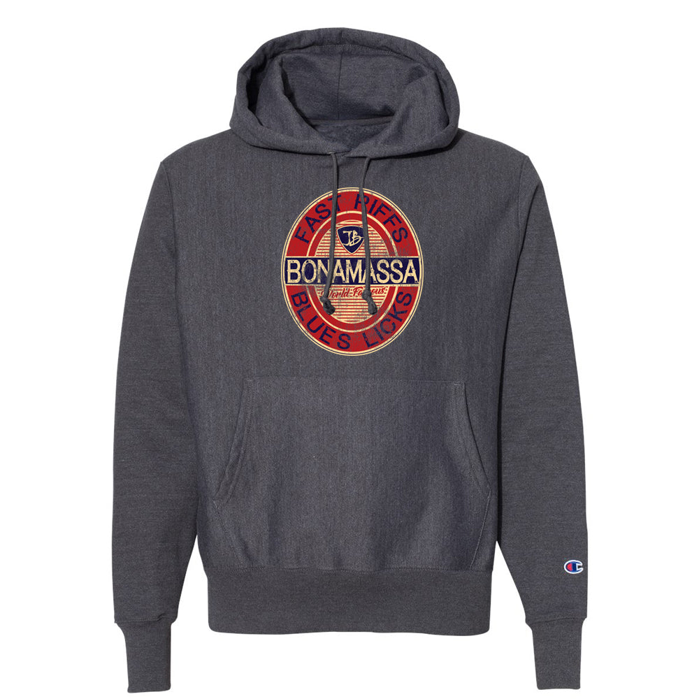 Fast Riffs Champion Hooded Pullover (Unisex) - Charcoal