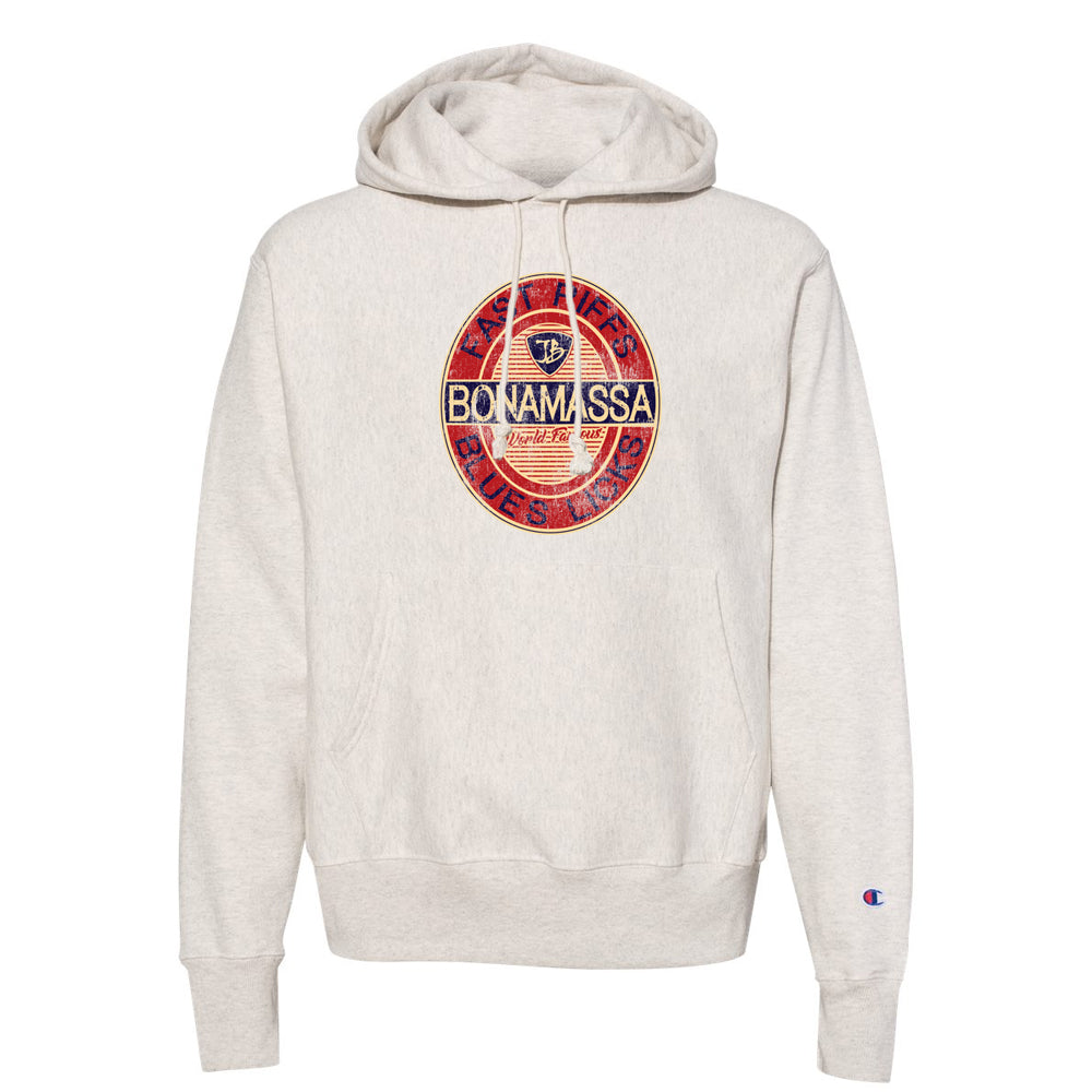 Fast Riffs Champion Hooded Pullover (Unisex) - Oatmeal