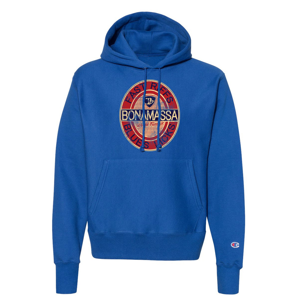 Fast Riffs Champion Hooded Pullover (Unisex) - Royal