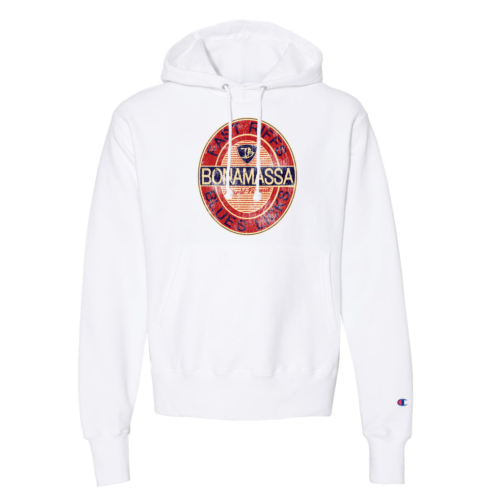 Fast Riffs Champion Hooded Pullover (Unisex) - White