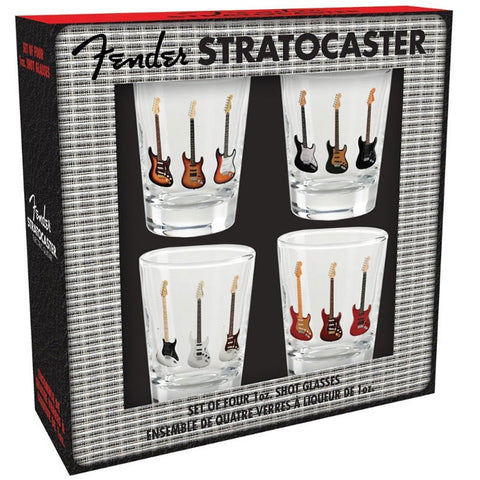Fender - Stratocaster Shot Glasses (4 Piece Set)