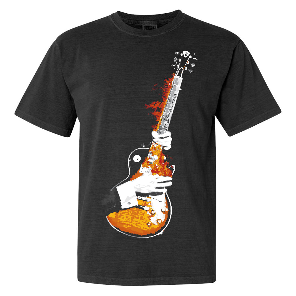 Blues On Fire Comfort Colors T-Shirt (Unisex) - Black
