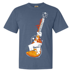 Blues On Fire Comfort Colors T-Shirt (Unisex) - Blue Jean