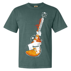 Blues On Fire Comfort Colors T-Shirt (Unisex) - Spruce