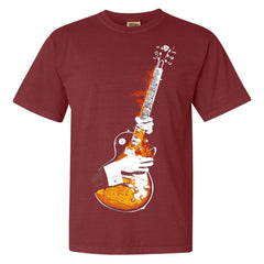 Blues On Fire Comfort Colors T-Shirt (Unisex) - Brick