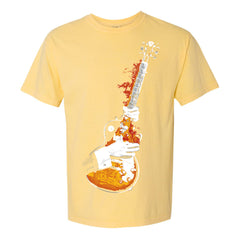 Blues On Fire Comfort Colors T-Shirt (Unisex) - Butter