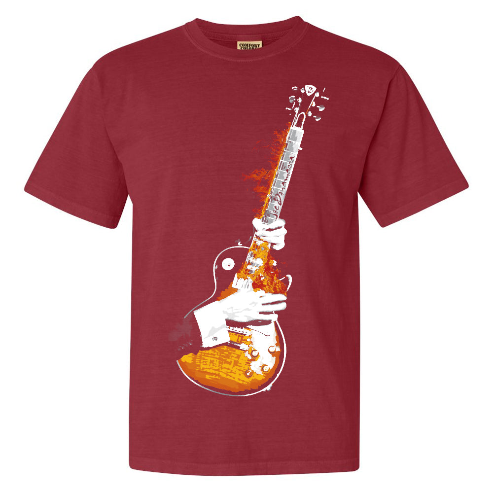 Blues On Fire Comfort Colors T-Shirt (Unisex) - Crimson