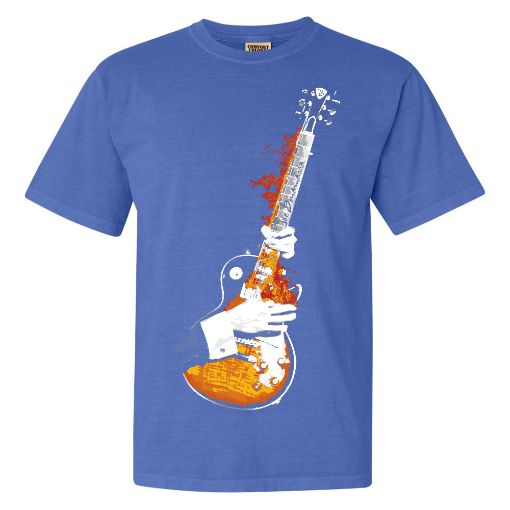 Blues On Fire Comfort Colors T-Shirt (Unisex) - Blue