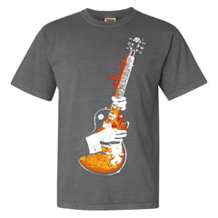 Blues On Fire Comfort Colors T-Shirt (Unisex) - Grey