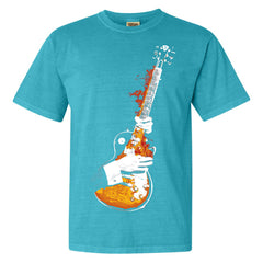 Blues On Fire Comfort Colors T-Shirt (Unisex) - Lagoon