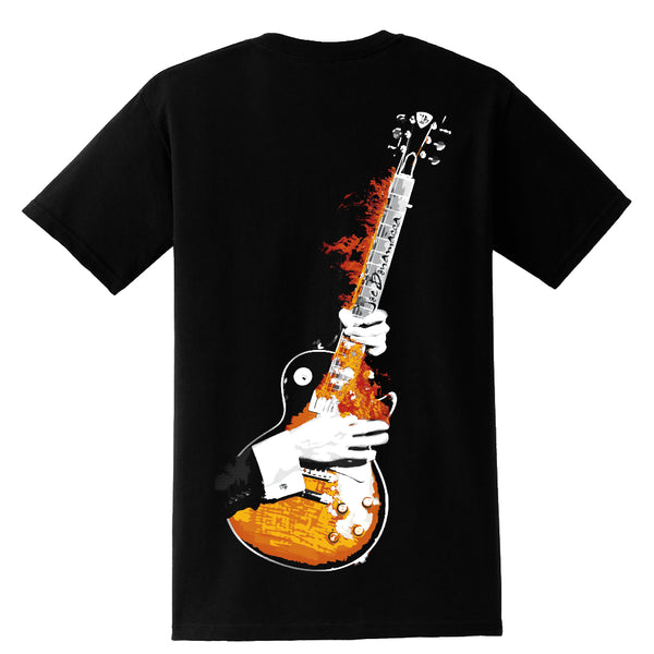 Blues on Fire Pocket T-Shirt (Unisex)