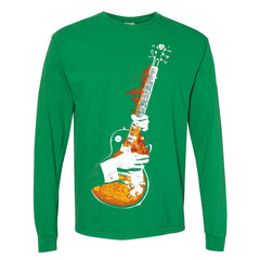 Blues On Fire Comfort Colors Long Sleeve T-Shirt (Unisex) - Clover
