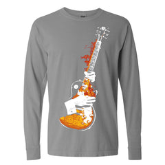 Blues On Fire Comfort Colors Long Sleeve T-Shirt (Unisex) - Grey