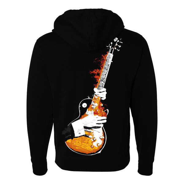 Blues on Fire Zip-Up Hoodie (Unisex)