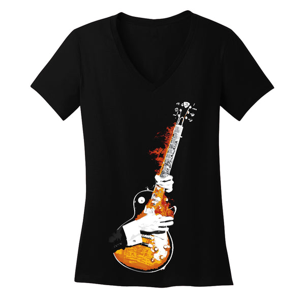 Blues on Fire V-Neck (Women)