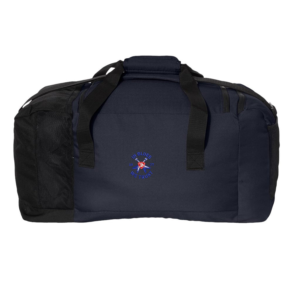 Flying V Shield Adidas 3 Stripes Duffel - Navy