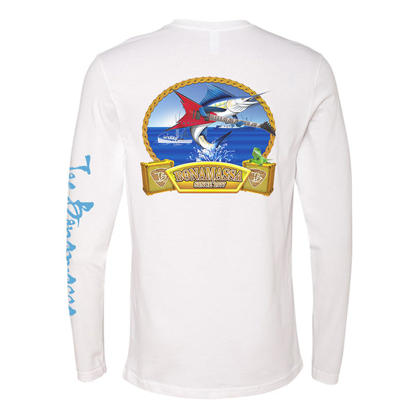 Bonamassa's Flying V Fish Long Sleeve (Men) - White