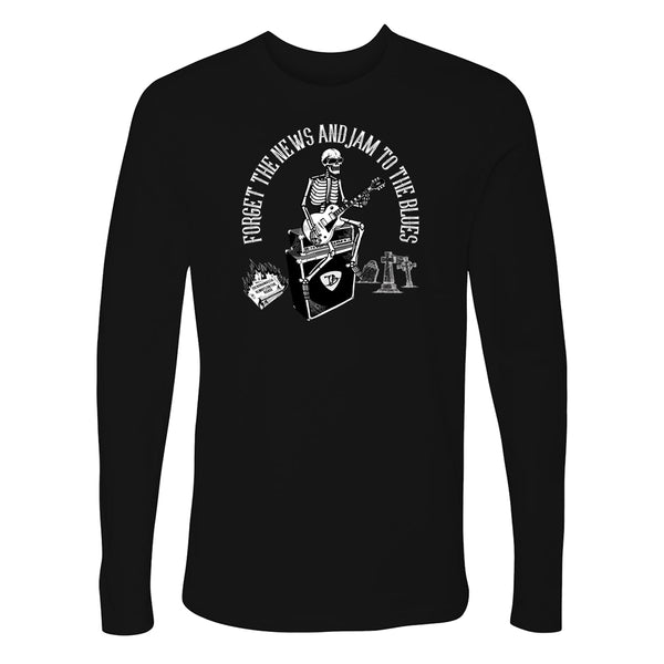 Forget the News and Jam to the Blues Long Sleeve (Men)