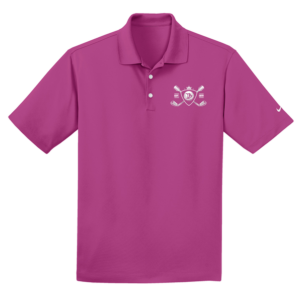 Blues Bogey Nike Dri-FIT Micro Pique Polo (Men) - Fusion Pink
