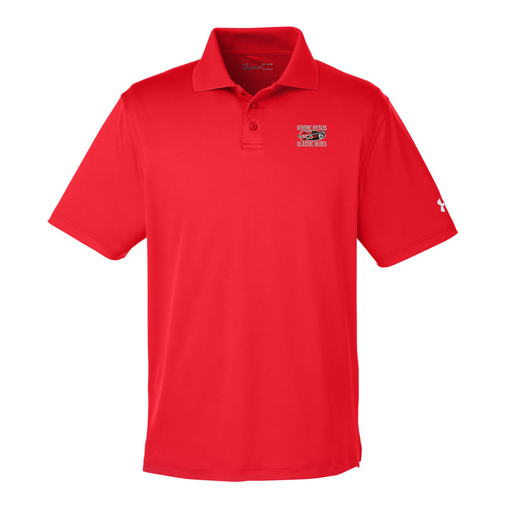 Genuine Guitars & Classic Blues Under Armour Performance Polo (Men) - Red