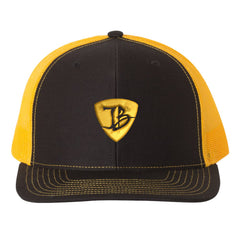 "JB Pick ""Puff"" Snapback Trucker Hat - Black/Gold"