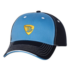"JB Pick ""Puff"" Tri-Color Hat - Light Blue/Navy"