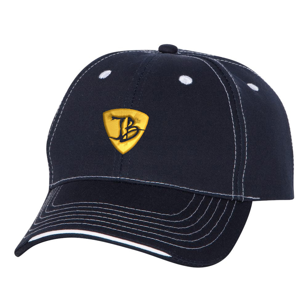"JB Pick ""Puff"" Tri-Color Hat - Navy"