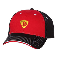 "JB Pick ""Puff"" Tri-Color Hat - Red/Black"