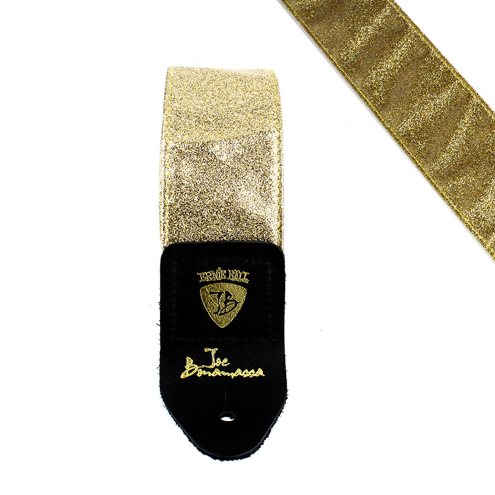 Gold Vinyl Leather - Ernie Ball JB Signature Guitar Strap