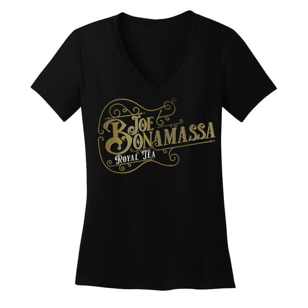 Royal Tea Guitar V-Neck T-Shirt (Women)
