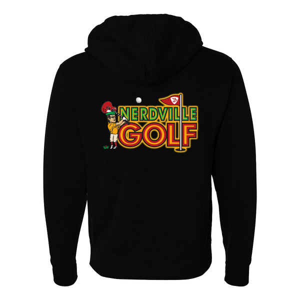 Nerdville Golf Zip-Up Hoodie (Unisex)