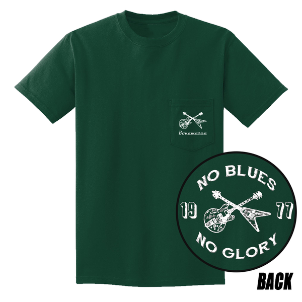 No Blues, No Glory Pocket T-Shirt (Unisex) - Forest Green