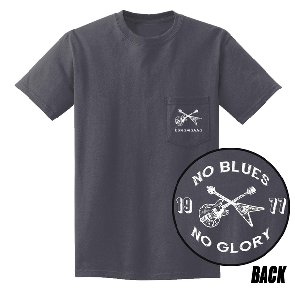 No Blues, No Glory Pocket T-Shirt (Unisex) - Charcoal