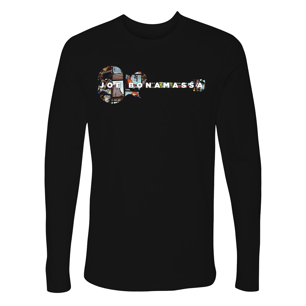 A New Day Now Guitar Collage Long Sleeve (Men)  ***PRE-ORDER***